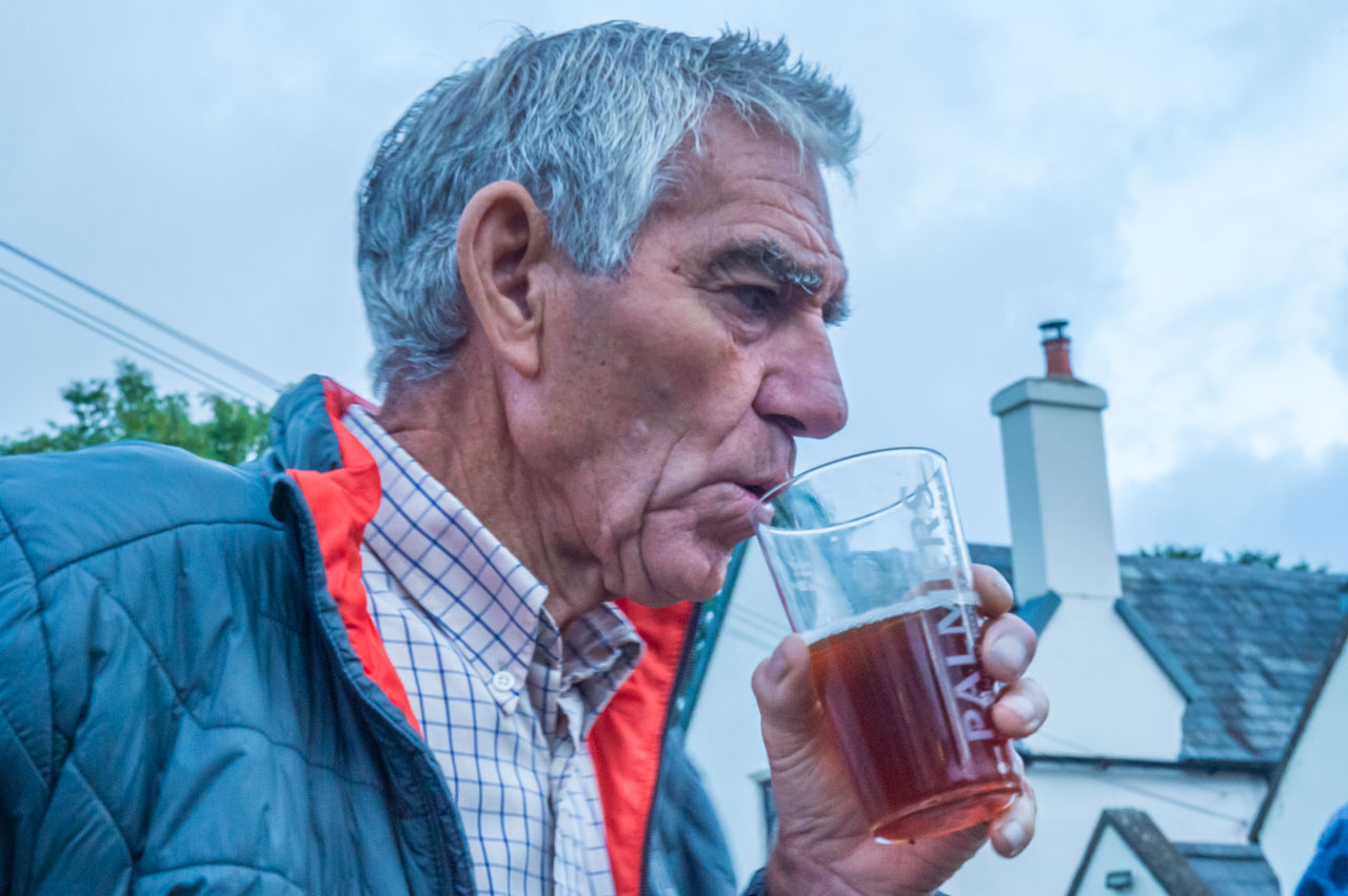 Liz through the lens: John has the final next, so a drop of beer helps the pre-match nerves