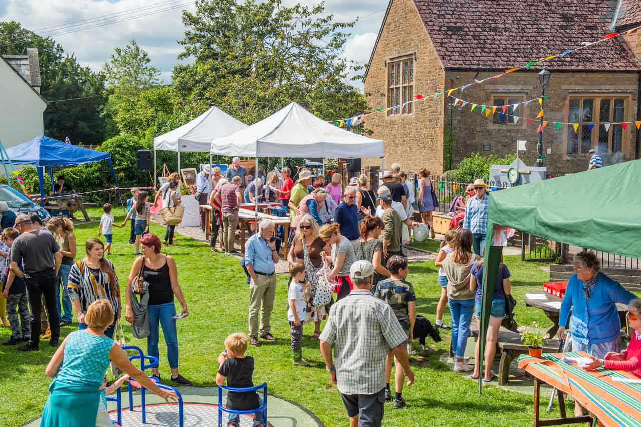 A hot afternoon at a village Fete is just what people have been waiting for