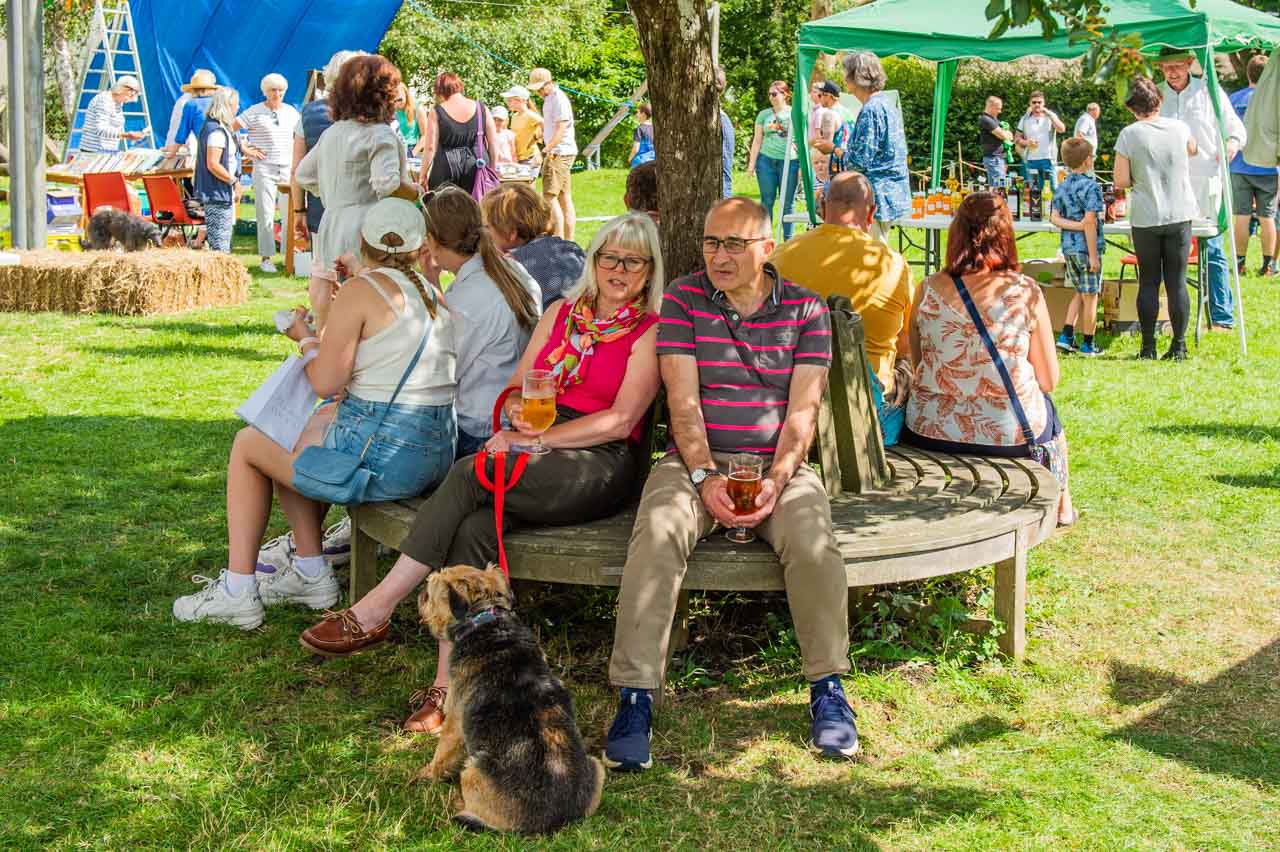Helen and Rory find a bit of shade for a rest, just before the Fete ends - another great success for Wayne and the Fete committee