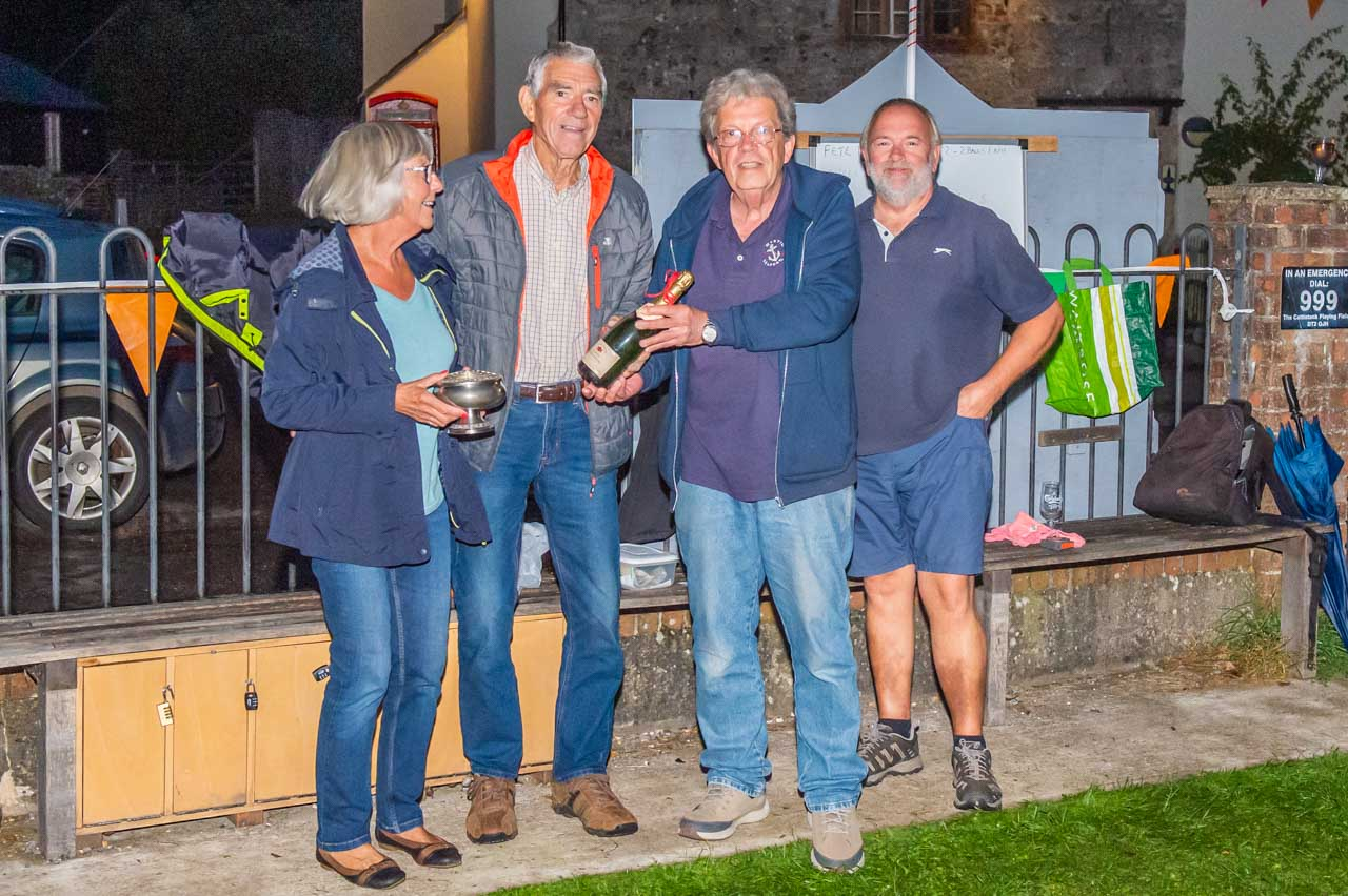 The highly successful 2021 boules competion has been completed and the winners are Viv and John
