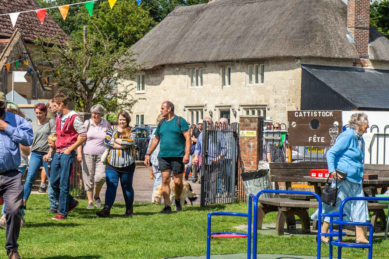 1.00pm and the gates are open for the 2021 Cattistock Fete