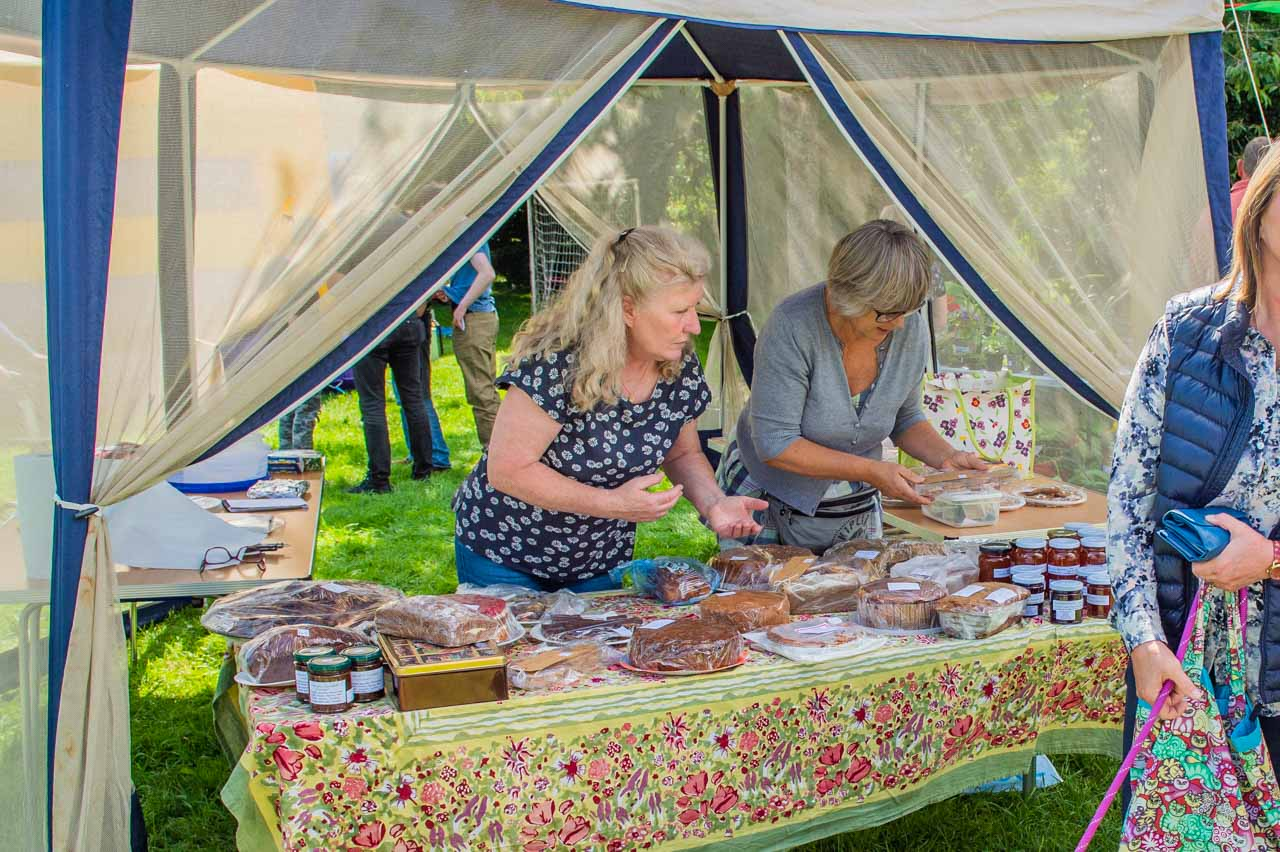 Ann and Jenny selling a delicious range of cakes