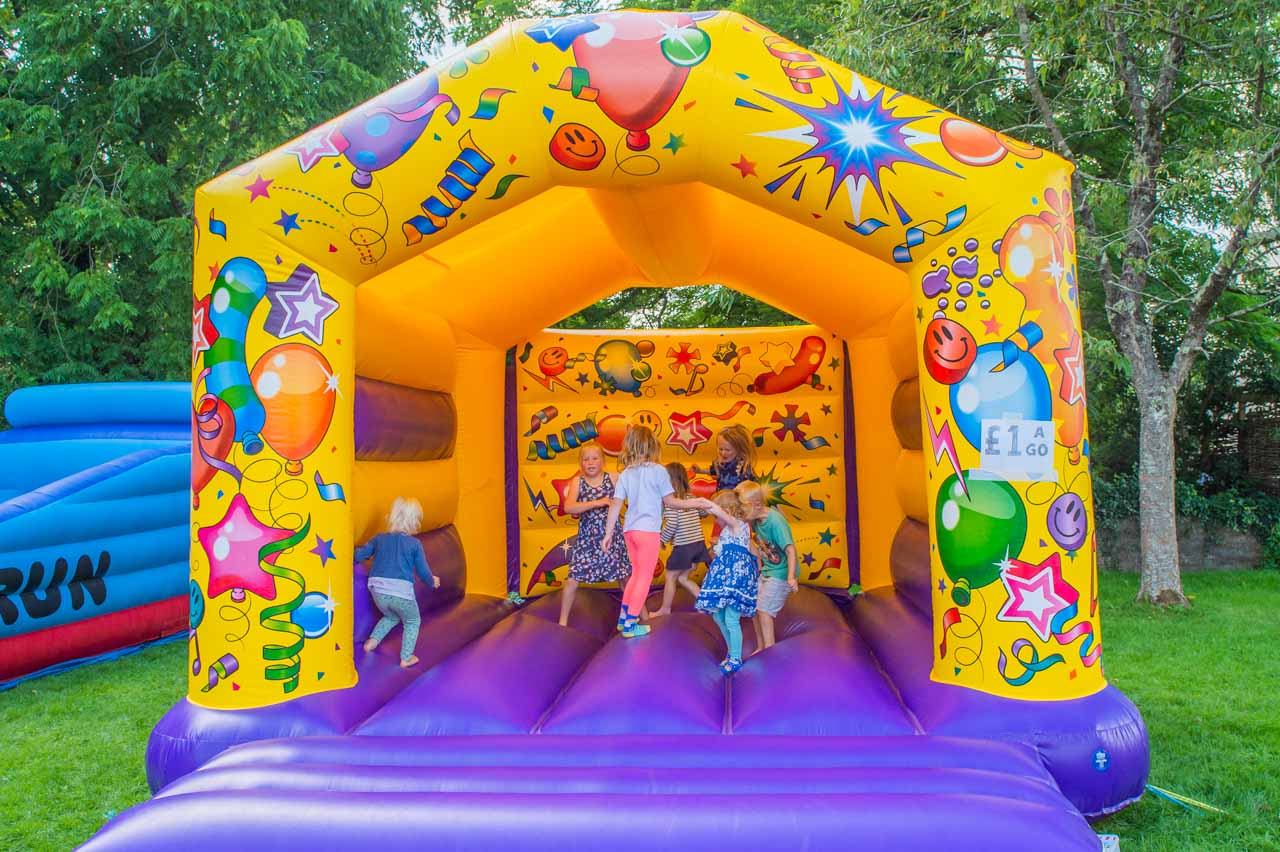 Busy all afternoon, yet again the Bouncy Castle is a great hit with the children